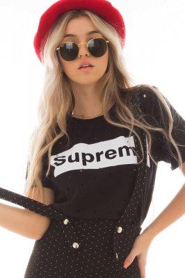 Imagem - T-shirt Destroyed com Lettering