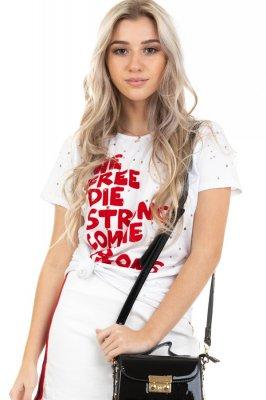 Imagem - T-shirt Destroyed com Lettering Print