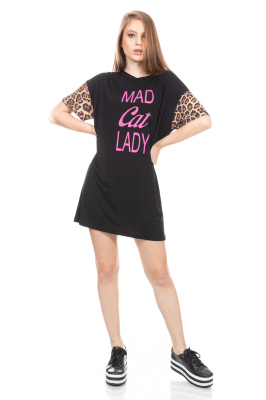 Imagem - T-shirt Dress Animal Print