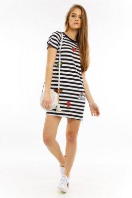 Imagem - T-shirt Dress com Aplicação de Patches