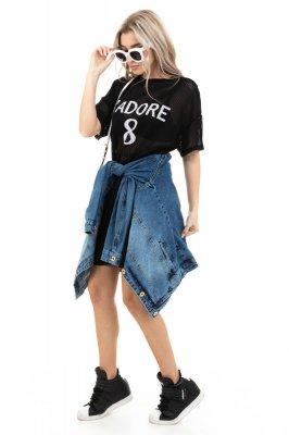 Imagem - T-shirt Dress com Detalhe nas Mangas