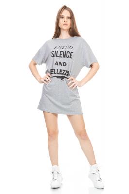 Imagem - T-shirt Dress com Estampa