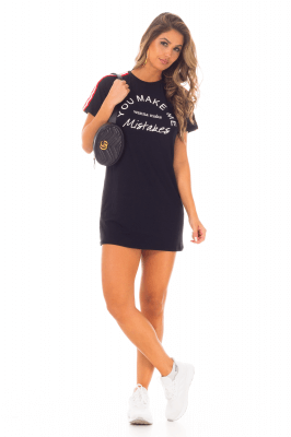 Imagem - T-shirt Dress com Estampa