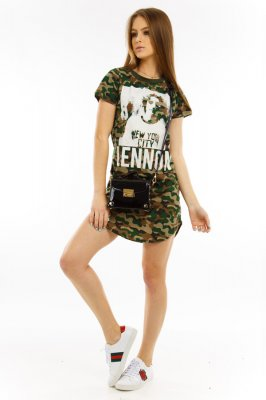 Imagem - T-shirt Dress com Estampa Frontal