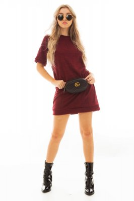 Imagem - T-shirt Dress com Estampa Xadrez