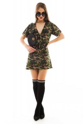 Imagem - T-shirt Dress com Gola Choker