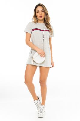 Imagem - T-shirt Dress com Listra