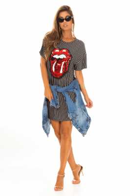 Imagem - T-shirt Dress com Patch