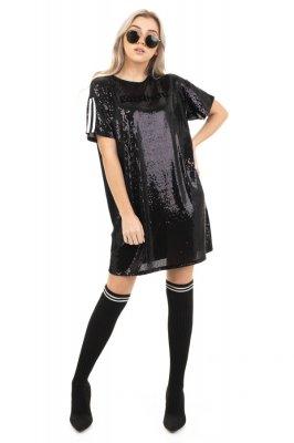 Imagem - T-shirt Dress de Paetês