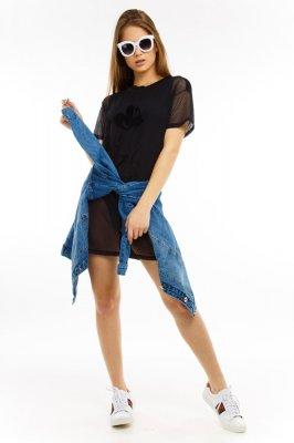 Imagem - T-shirt Dress com Transparência