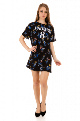 Imagem - T-shirt Dress Estampado