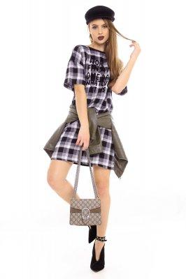 Imagem - T-shirt Dress Estampado com Lettering