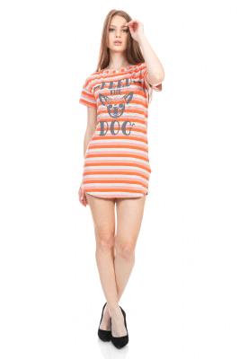 Imagem - T-shirt Dress Listrado