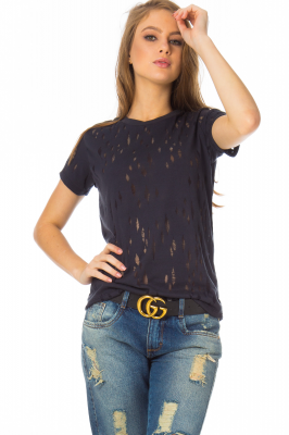 Imagem - T-shirt em Devorê