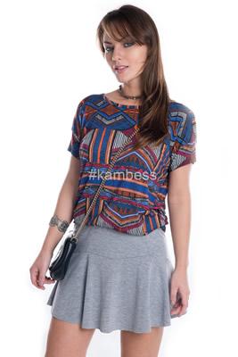Imagem - T-shirt Estampa Étnica