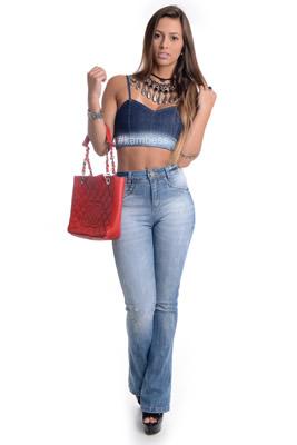 Imagem - Top Cropped Jeans