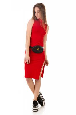Imagem - Vestido Ajustado com Gola Alta