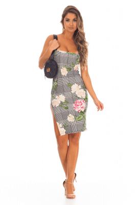 Imagem - Vestido Ajustado Floral
