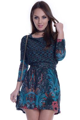Imagem - Vestido Amplo com Cinto