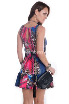 Imagem - Vestido Animal Print Collor
