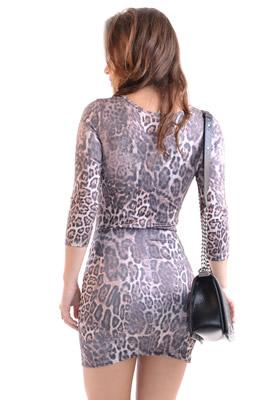 Imagem - Vestido Básico Estampado