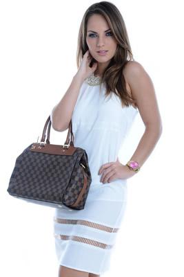 Imagem - Vestido Branco com Recortes