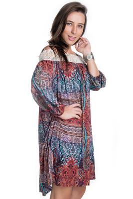 Imagem - Vestido Ciganinha com Renda