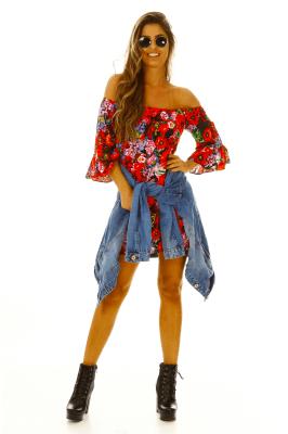Imagem - Vestido Ciganinha Estampado