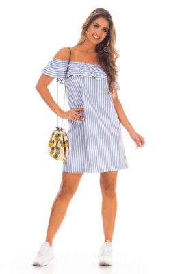 Imagem - Vestido Ciganinha Listrado