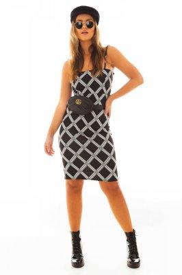 Imagem - Vestido Estampado com Alças Finas