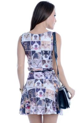 Imagem - Vestido com Estampa Pet