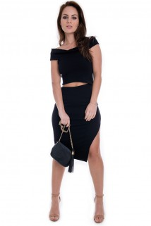 Imagem - Vestido com Recortes na Cintura