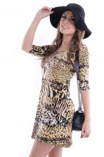 Imagem - Vestido com Tule no Decote
