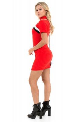 Imagem - Vestido Curto Bandage com Listras