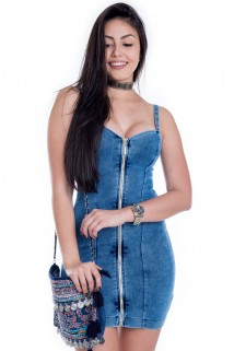 Imagem - Vestido de Alça com Zíper