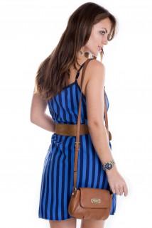 Imagem - Vestido de Alça Listrado