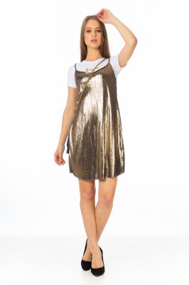 Imagem - Vestido de Alcinha Metalizado