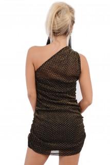 Imagem - Vestido de Brilho Drapeado