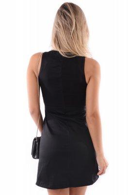 Imagem - Vestido Ajustado Recortes em Tule