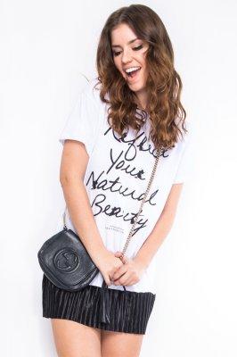 Imagem - T-shirt Dress com Detalhe Plissado