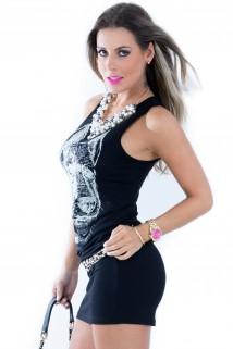 Imagem - Vestido de Malha - Lobo