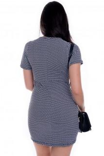 Imagem - Vestido de Poá com Estampa Sarcastic