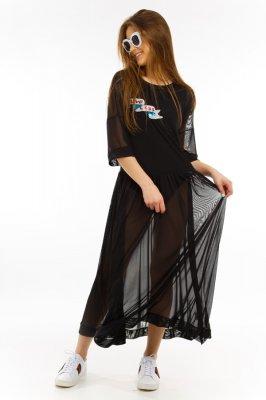 Imagem - Vestido de Tule com Patches