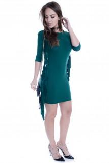 Imagem - Vestido de Viscolycra com Franjas