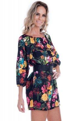 Imagem - Vestido em Crepe Floral
