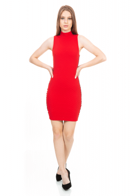 Imagem - Vestido em Jacquard com Listra