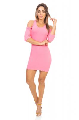 Imagem - Vestido em Jacquard com Recortes