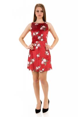 Imagem - Vestido em Veludo com Estampa