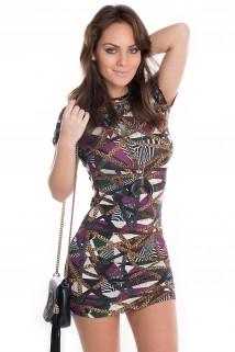 Imagem - Vestido Estampado com Abertura