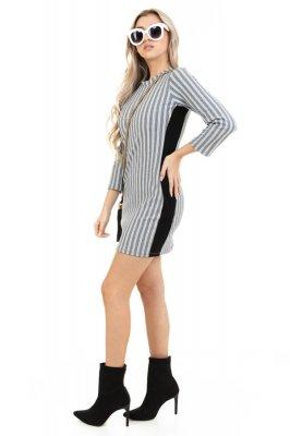 Imagem - Vestido Estampado com Listra Lateral
